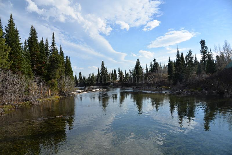 Grand Teton National Park is a natural wonder with spectacular sites to see stock photo