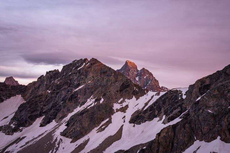Grand Teton National Park Sunset stock image