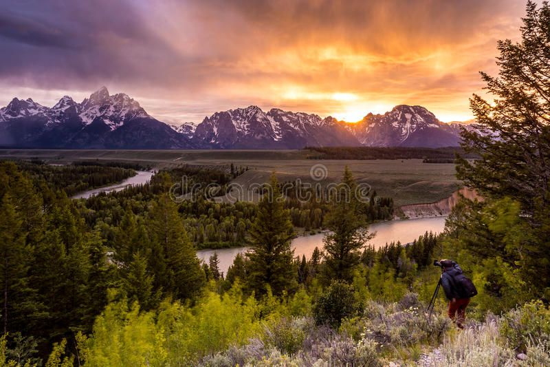 grand teton parku narodowego obraz royalty free