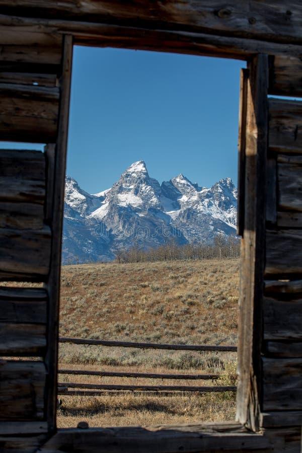 Grand Tetons... Framed! royalty free stock image