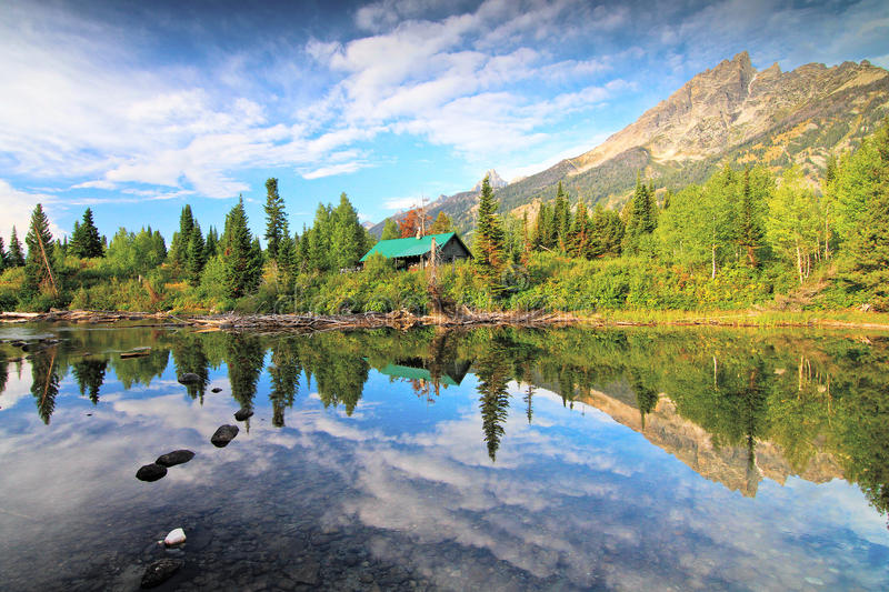 Grand Tetons National park in Summer royalty free stock photography