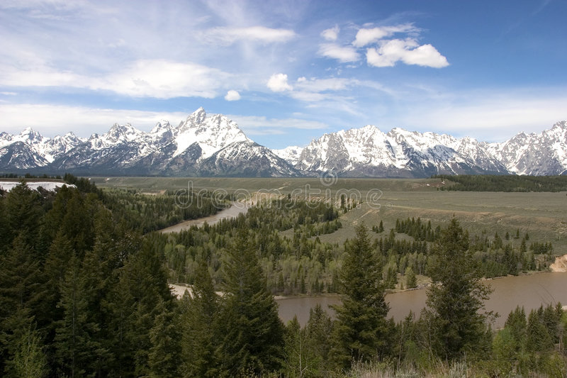 Grand Tetons NP and the Snake River stock photo