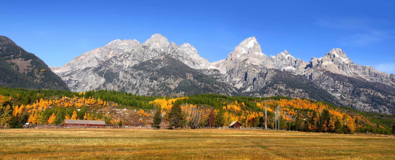 Grand Tetons panorama royalty free stock photography