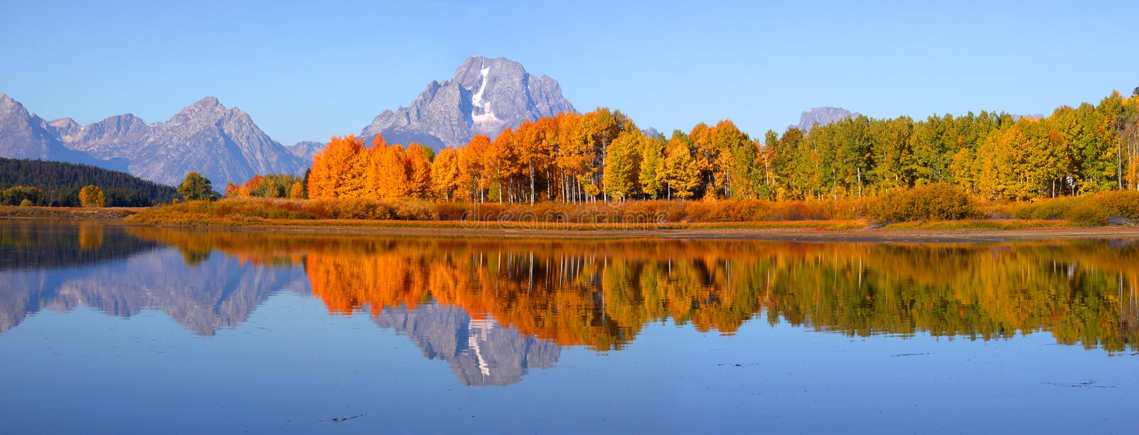 Download Grand Tetons panorama stock photo. Image of mountains - 16374810