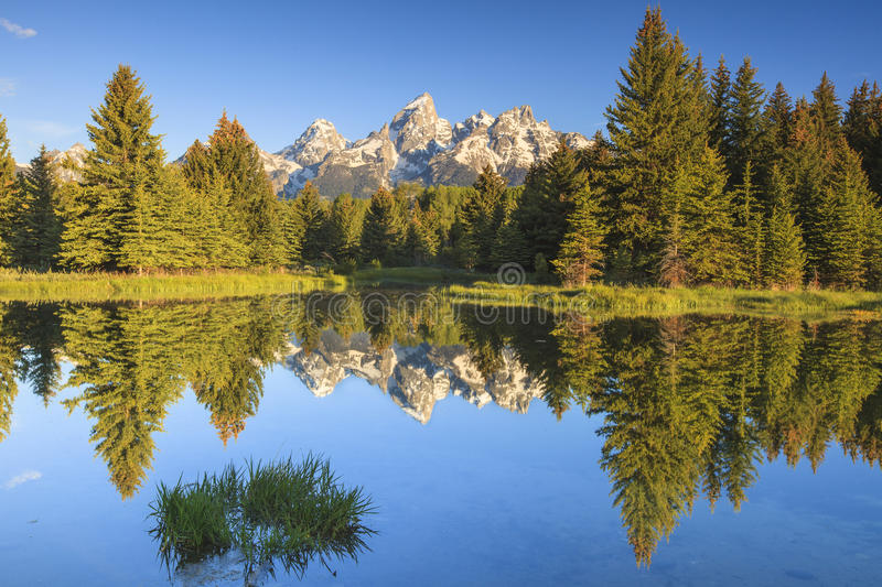 The Grand Tetons Peaks stock photography