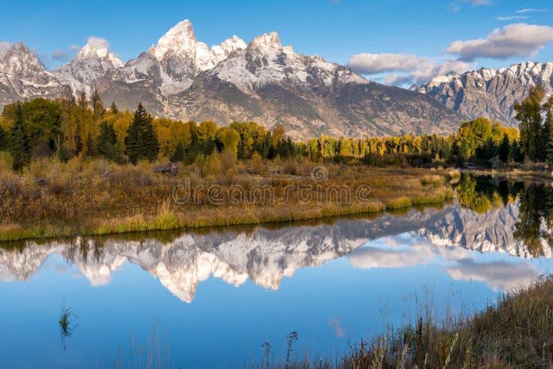 Grand Tetons Reflection stock photos