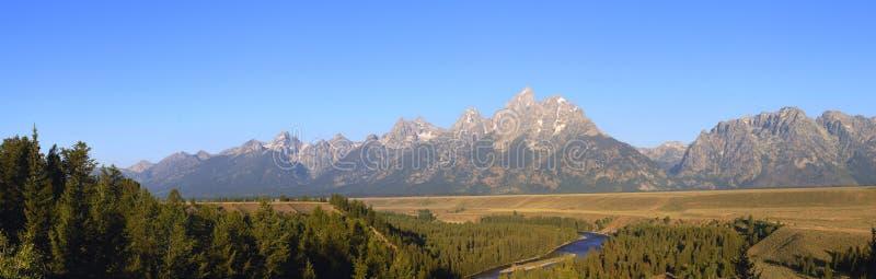 Grand Tetons and Snake River royalty free stock photo
