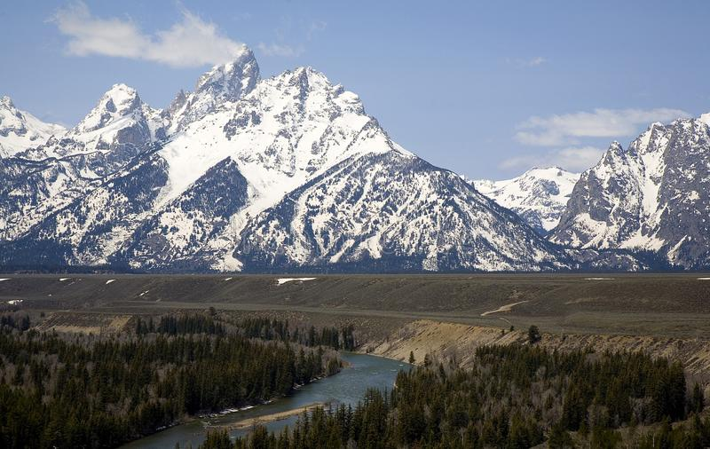 GRAND TETONS AND SNAKE RIVER stock images