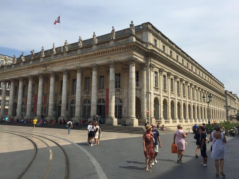 Grand Théâtre de Bordeaux, Theaterarchitektur des 18. Jahrhunderts, Bordeaux, Frankreich lizenzfreies stockbild