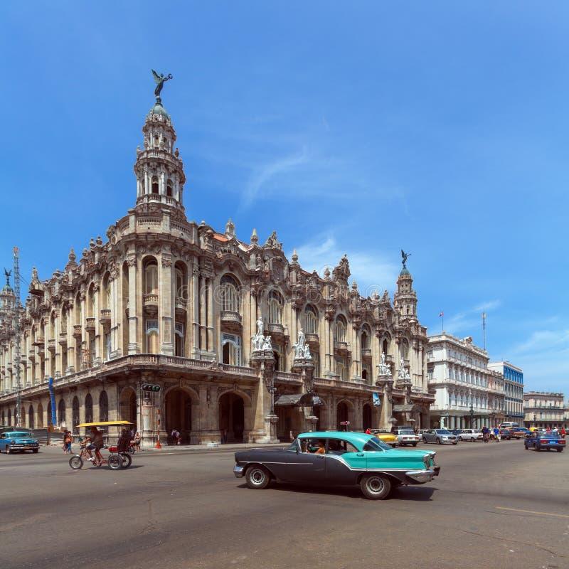 Grand théâtre à La Havane, Cuba image libre de droits
