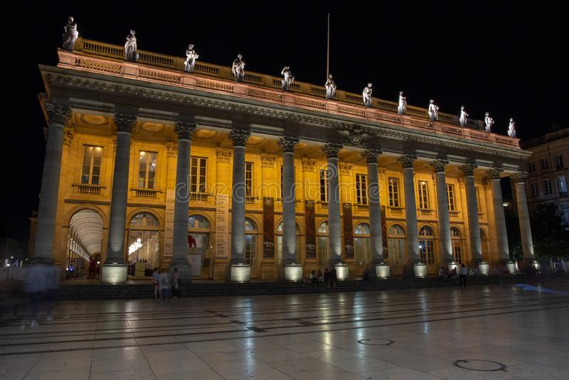 Grand Théâtre de Bordeaux, The Grand Theatre Opera House in Bordeaux stock image