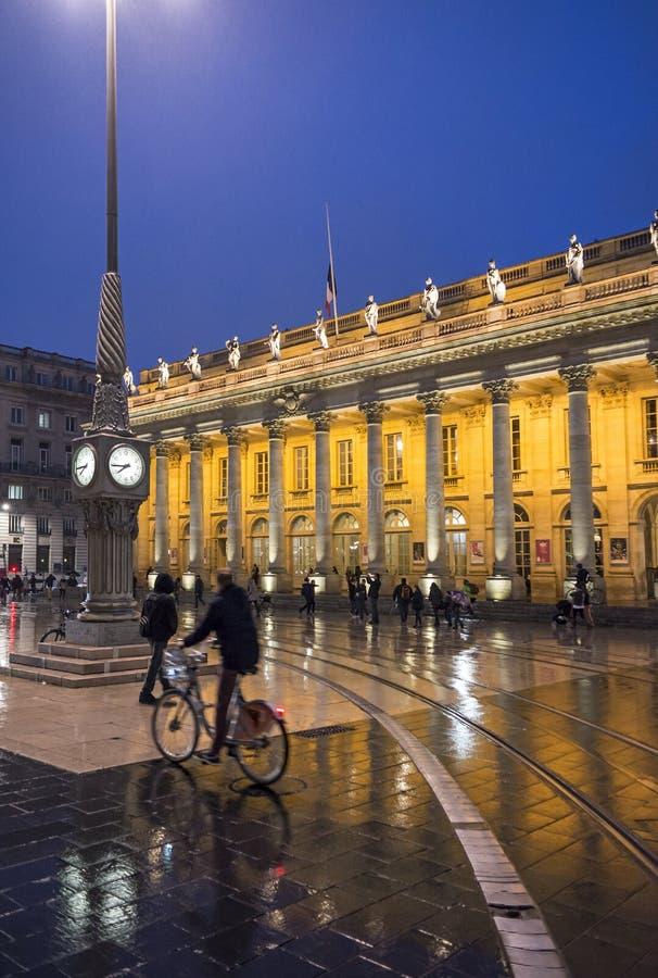 Grand Theatre de Bordeaux aquitaine frankreich lizenzfreie stockfotografie