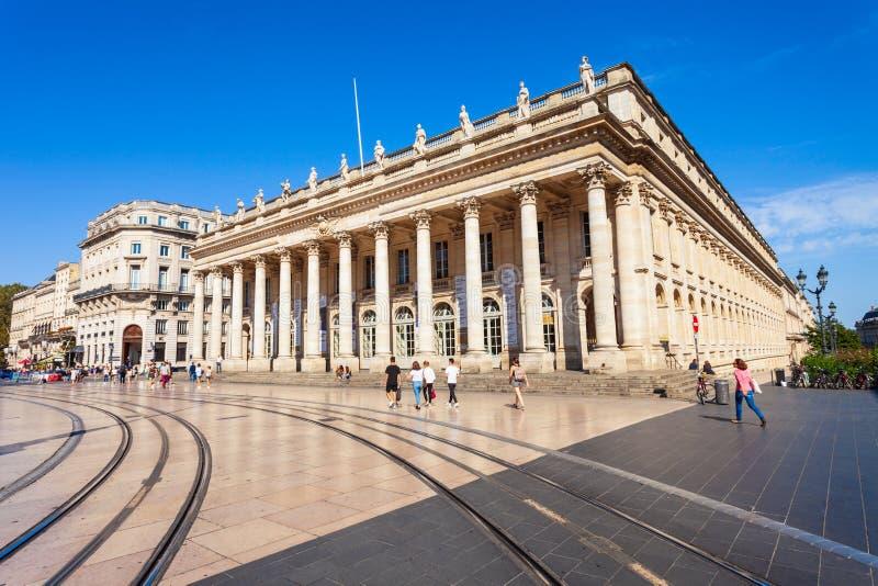 Grand Theatre de Bordeaux, Francia fotografie stock