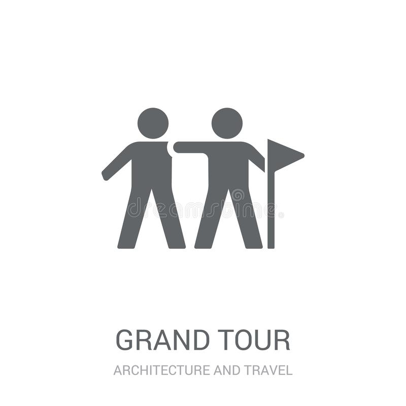 grand tour icon. Trendy grand tour logo concept on white background from Architecture and Travel collection stock illustration