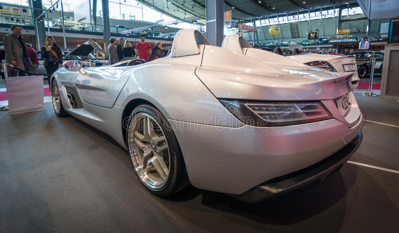 Grand tourer car Mercedes-Benz SLR Stirling Moss (limited edition, 75 vehicles), 2009. royalty free stock image