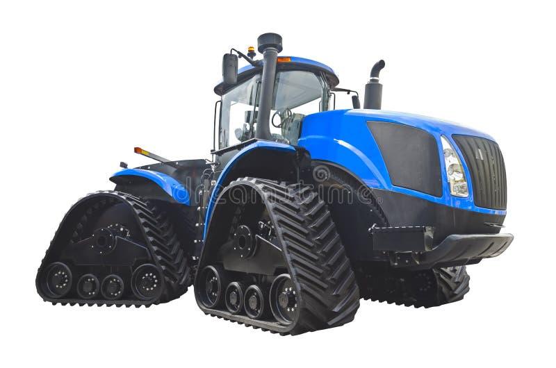 Grand tracteur à chenilles avec les voies en caoutchouc photographie stock libre de droits