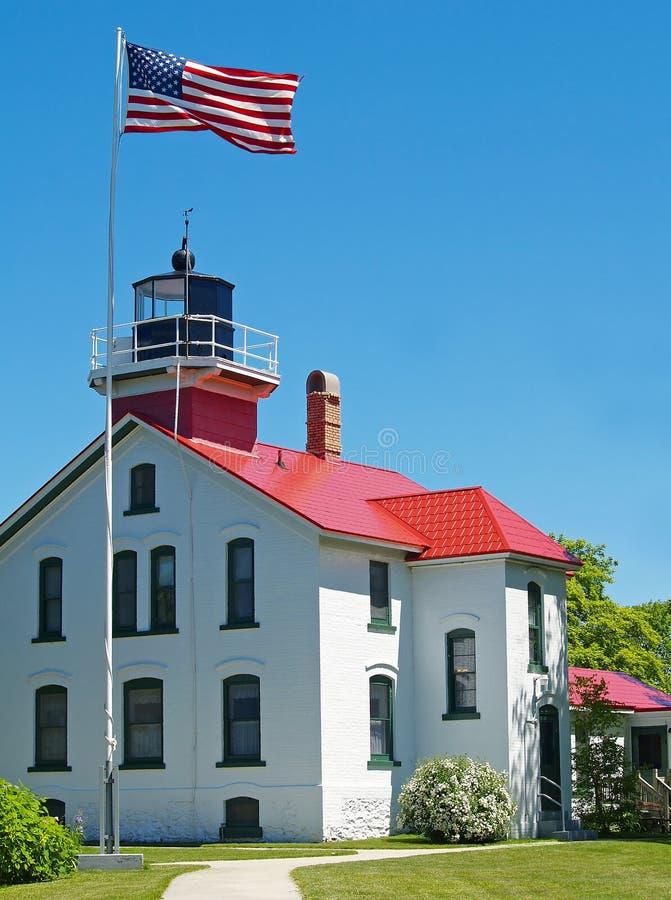 Grand Traverse Lighthouse stock image