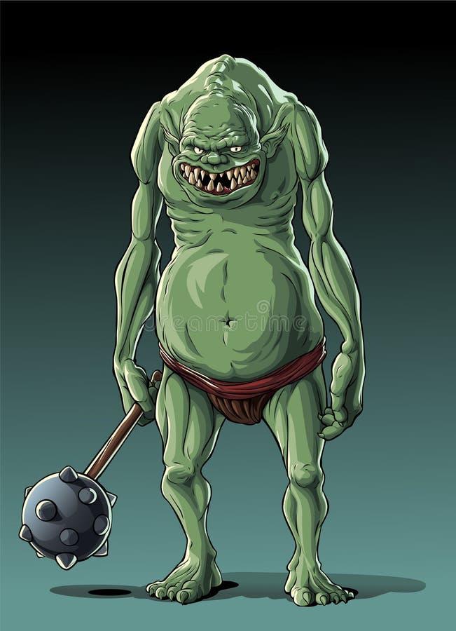 Grand troll mince (orque) illustration de vecteur