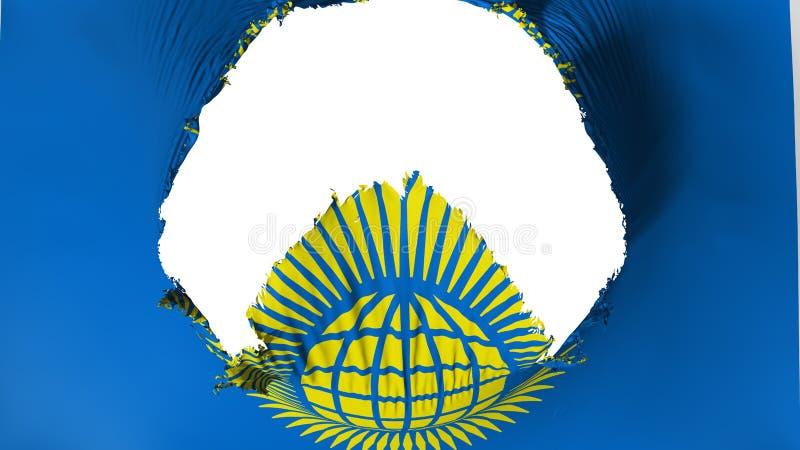 Grand trou dans le Commonwealth du drapeau de nations illustration de vecteur
