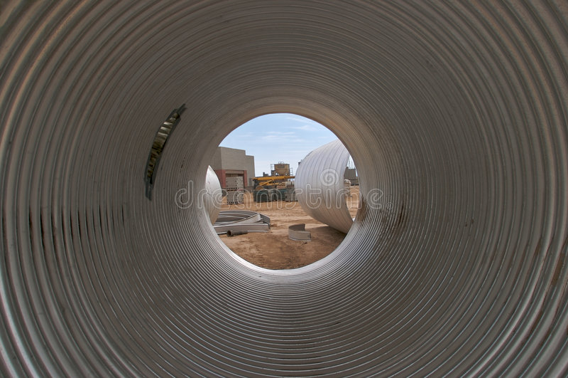 Grand tube. photographie stock