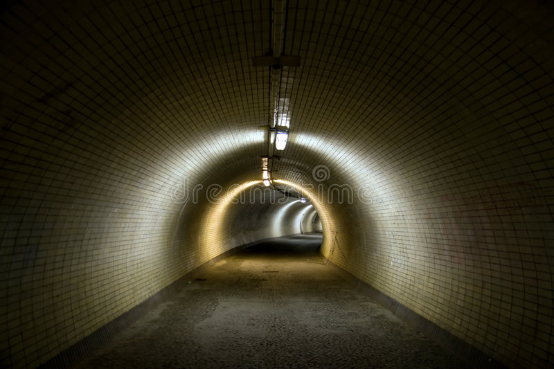 Grand tunnel photographie stock