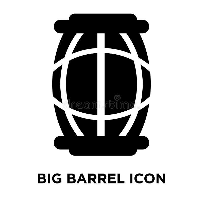 Grand vecteur d'icône de baril d'isolement sur le fond blanc, concep de logo illustration libre de droits