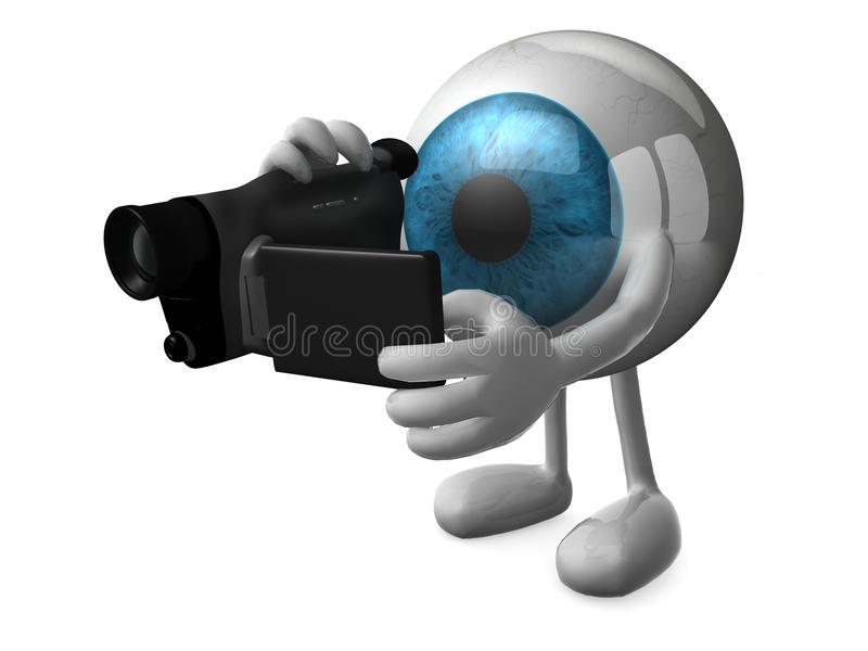 Grand videomaker d'oeil bleu illustration libre de droits