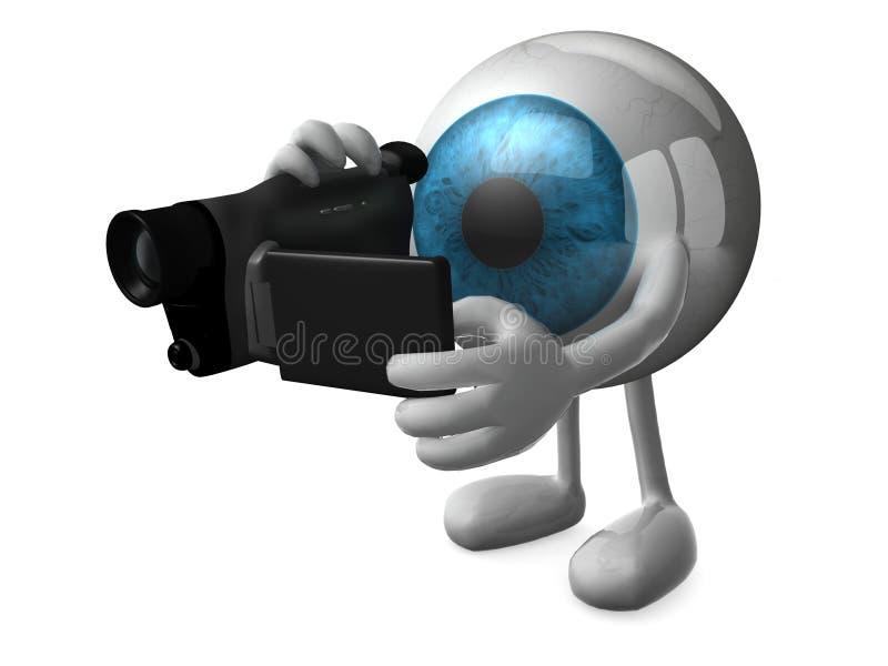 Grand videomaker d'oeil bleu illustration libre de droits