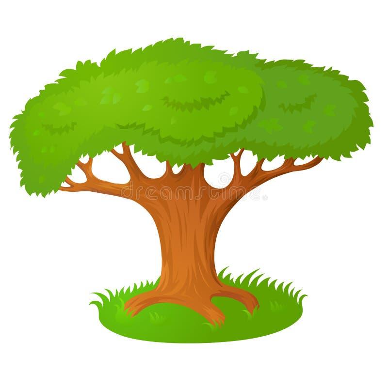 Grand vieil arbre illustration libre de droits