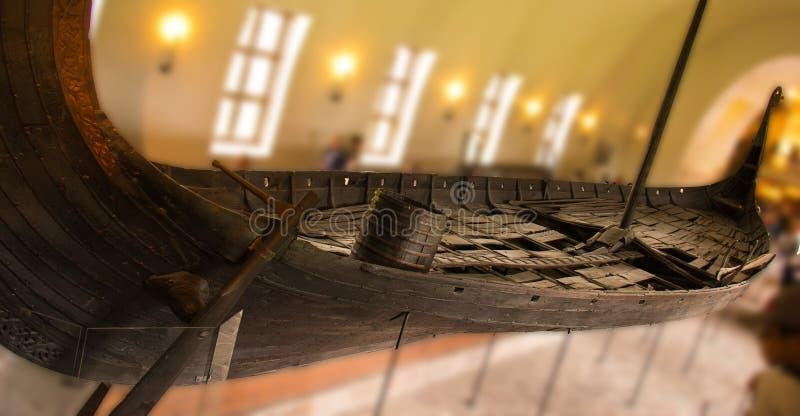 Grand Viking Ship en Norvège photo stock