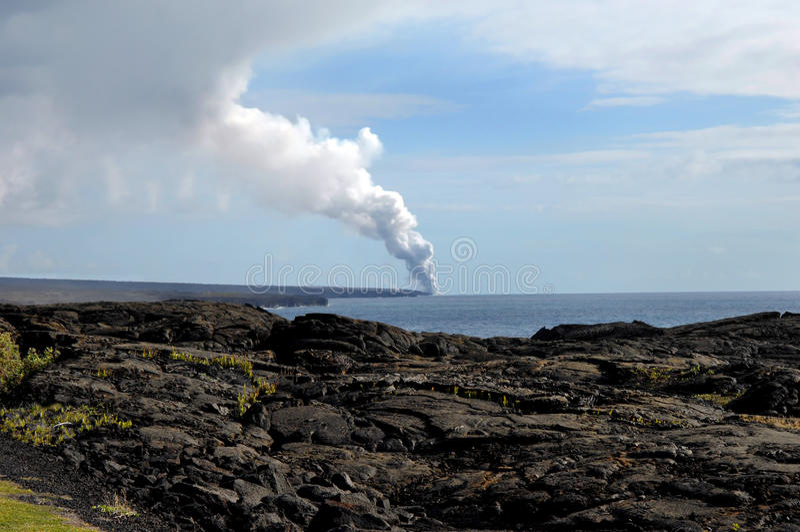 Grand volcan de Kilauea d'île image stock