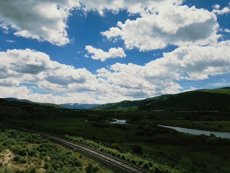 Grand voyage par la route américain images libres de droits