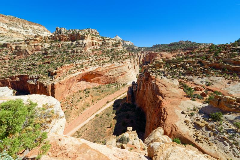 Grand Wash Trail, Parc national du Capitol Reef images stock