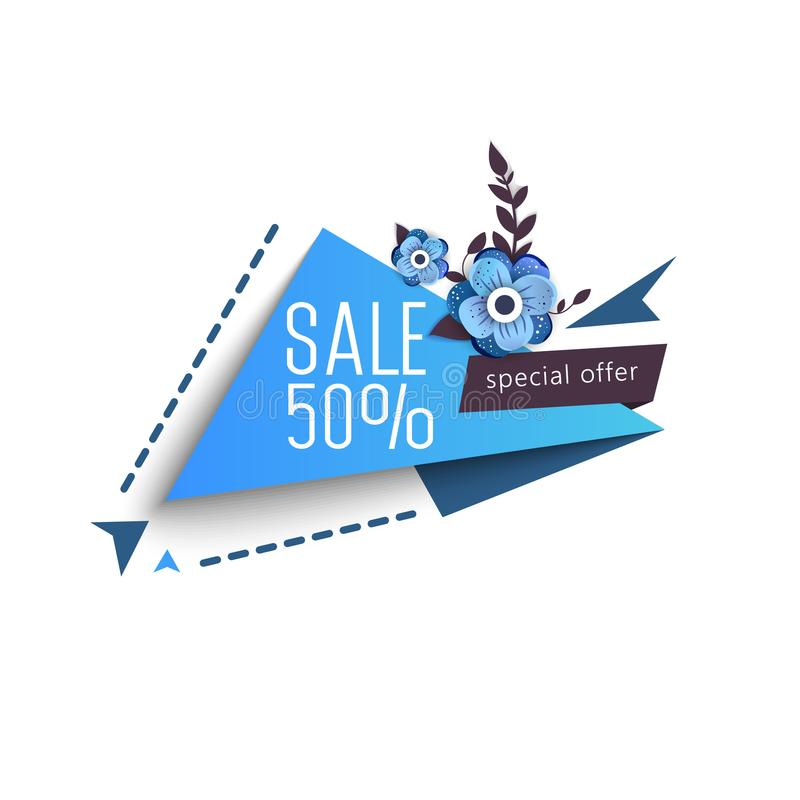 Grand week-end de vente, bannière d'offre spéciale jusqu'à 50  Illustration de vecteur illustration de vecteur