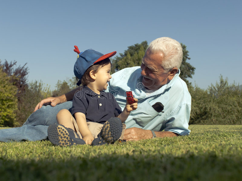 Download Grandad and grandson stock photo. Image of casual, grandfather - 7897596