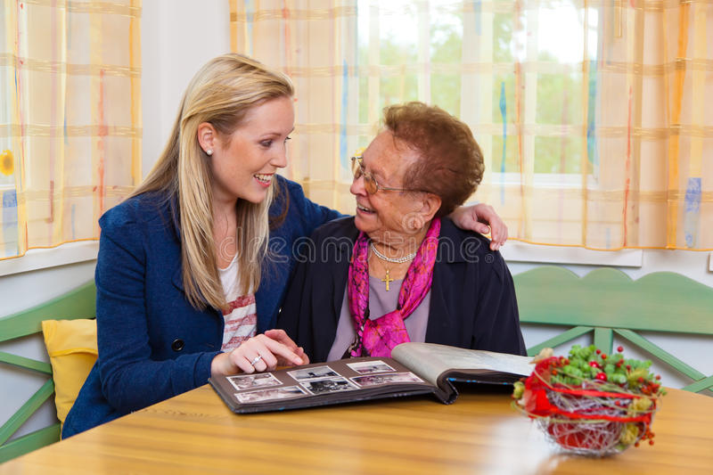 Download Grandchild Visits Grandmother Stock Image - Image: 21527617