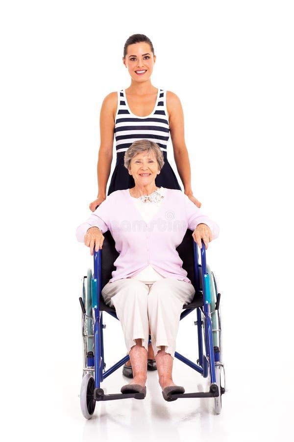 Download Granddaughter Disabled Grandmother Stock Image - Image: 28906563