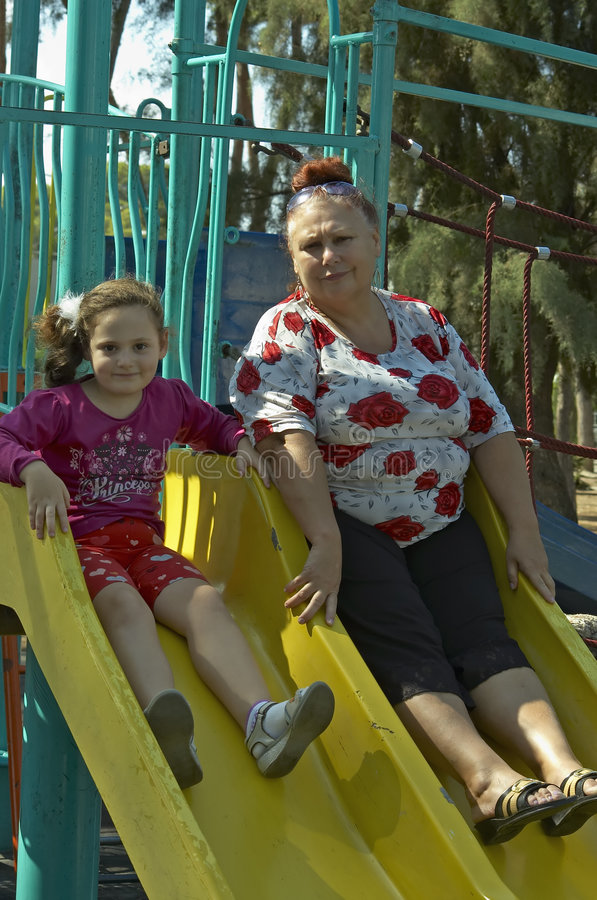 granddaughter grandmother στοκ εικόνα