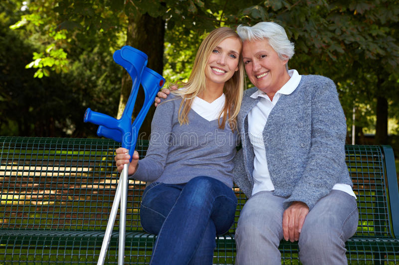 Download Granddaughter With Handicapped Stock Image - Image: 17020233