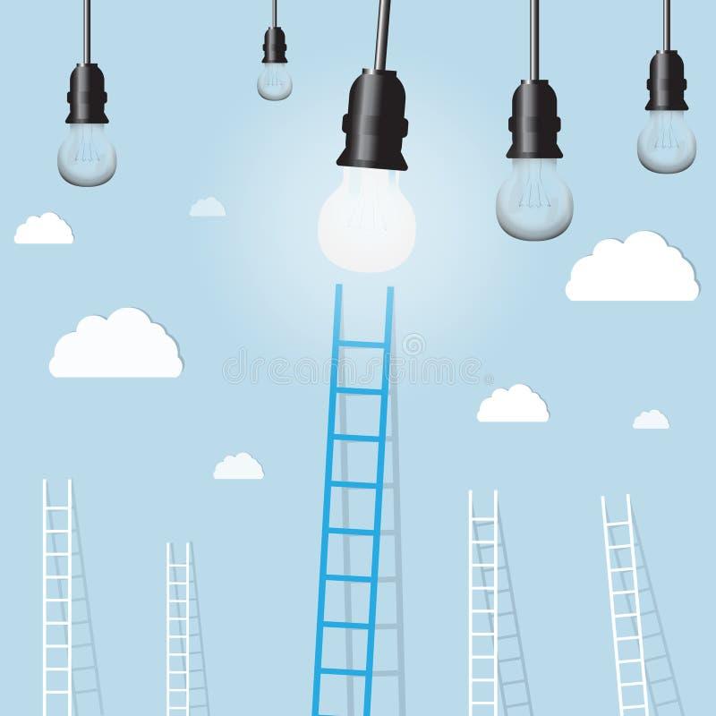 Download Grande échelle Bleue De Lampe Légère Avec Le Petit Blanc Ceux Fond De Concept D'affaires D'arrangement De But Illustration Stock - Illustration du inspiration, plan: 77150578