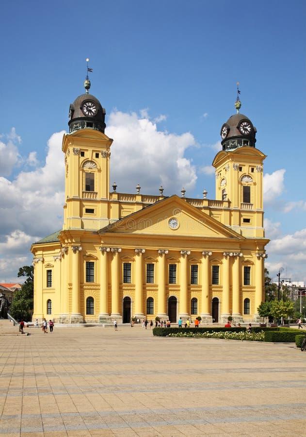 Grande église reformée à Debrecen à Debrecen hungary image libre de droits