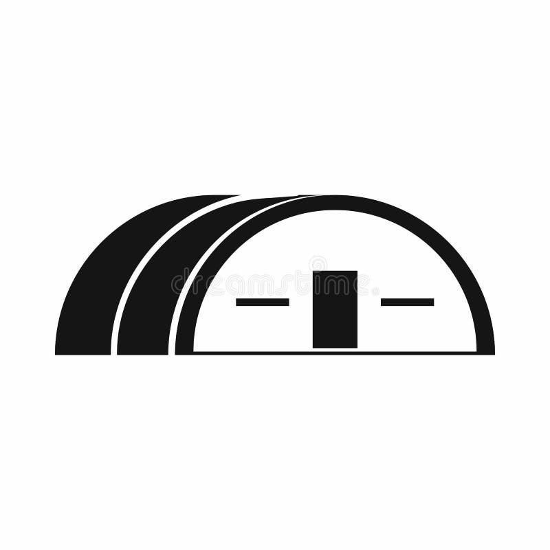 Grande ícone do hangar, estilo simples ilustração do vetor