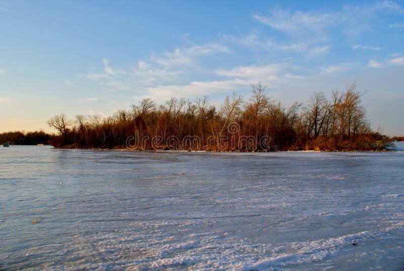 Grande île congelée photo libre de droits