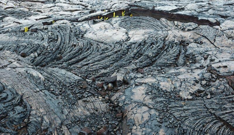 Grande île Hawaï de vieux de lave kilauea d'écoulement photographie stock