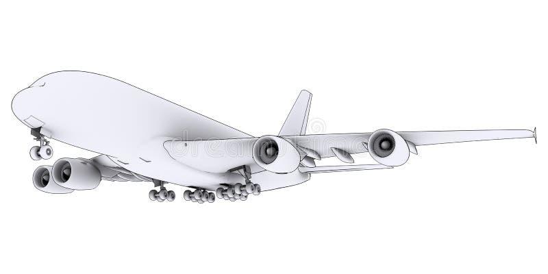 Grande aereo bianco illustrazione di stock