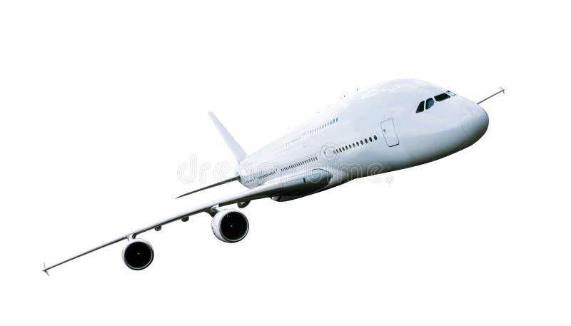Grande aeroplano commerciale isolato su bianco fotografia stock