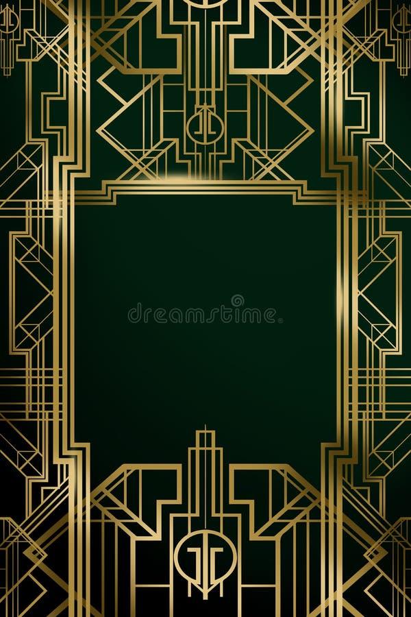 Grande affiche de fond de contexte de film d'inspiration de film de Gatsby illustration libre de droits