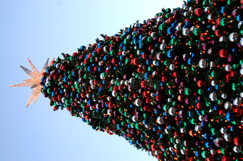 Grande albero di Natale immagine stock libera da diritti