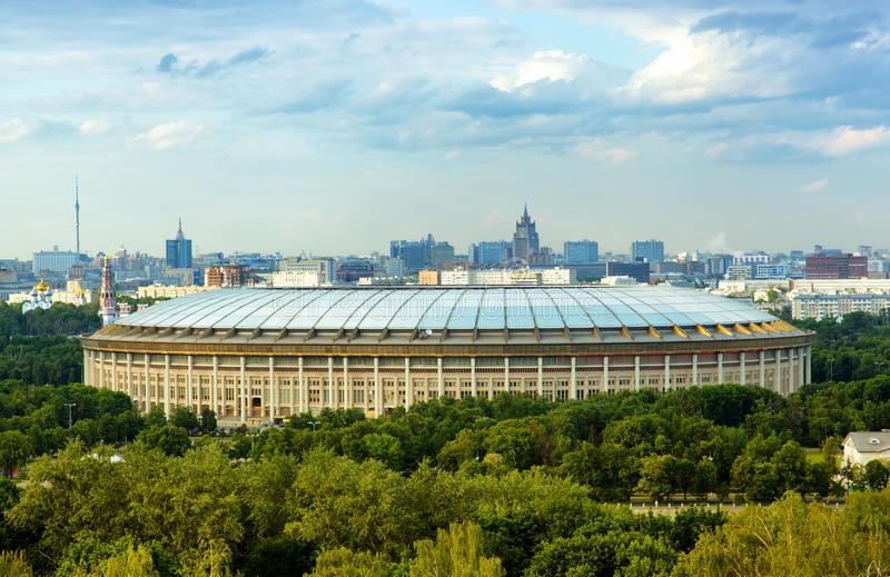 Grande arène de sports dans Luzhniki, Moscou photo libre de droits