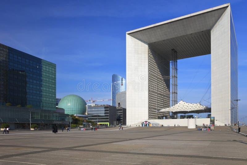 Grande Arche de La Defense, Paris stock photo